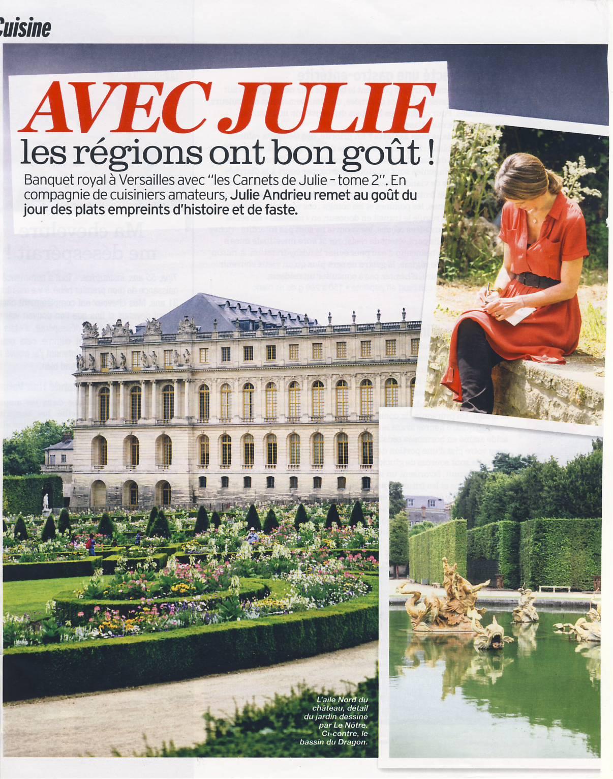 Avec Julie, les régions ont bon goût – Versailles – Version Femina