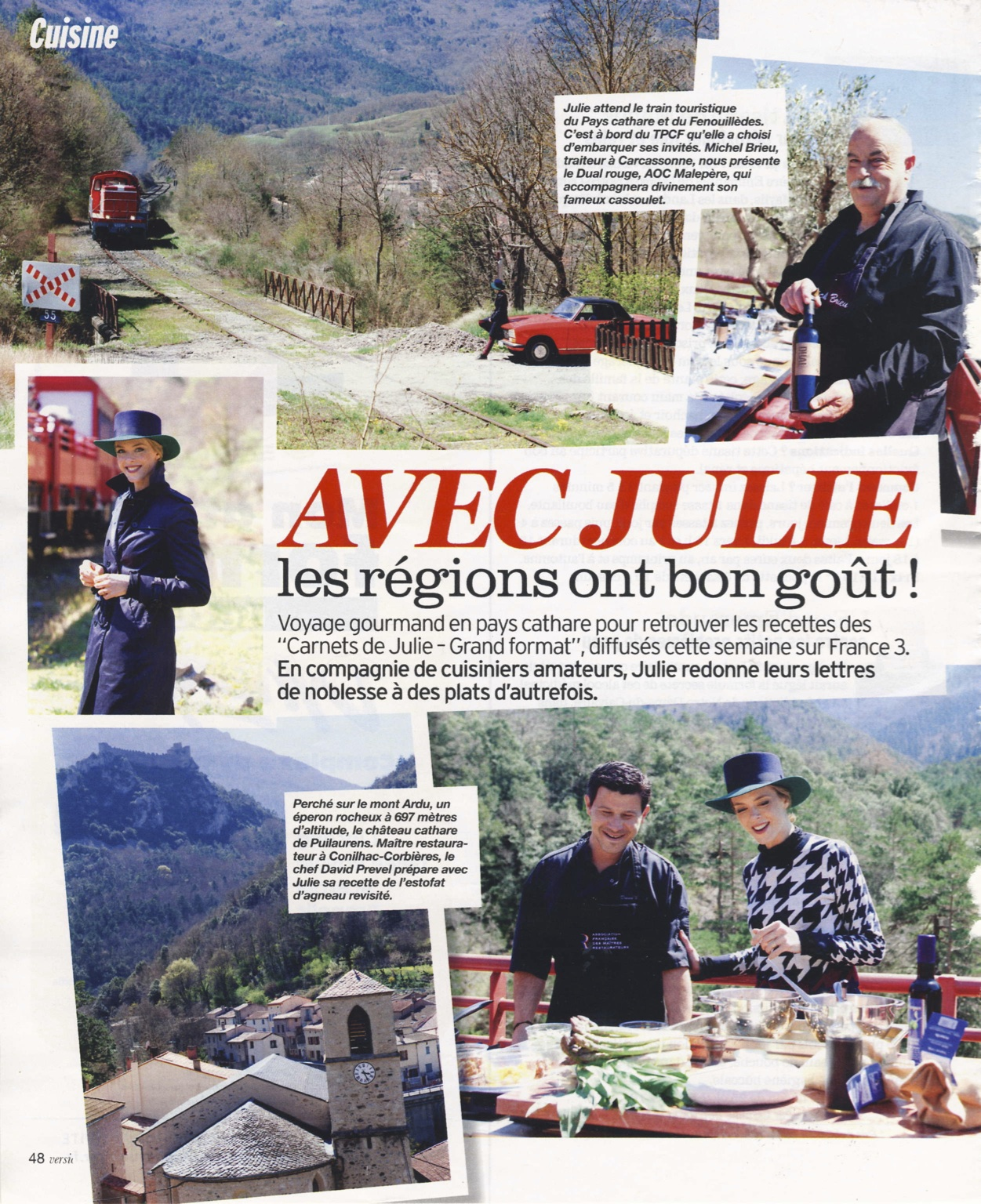 Avec Julie, les régions ont bon goût – Pays Cathare – Version Femina