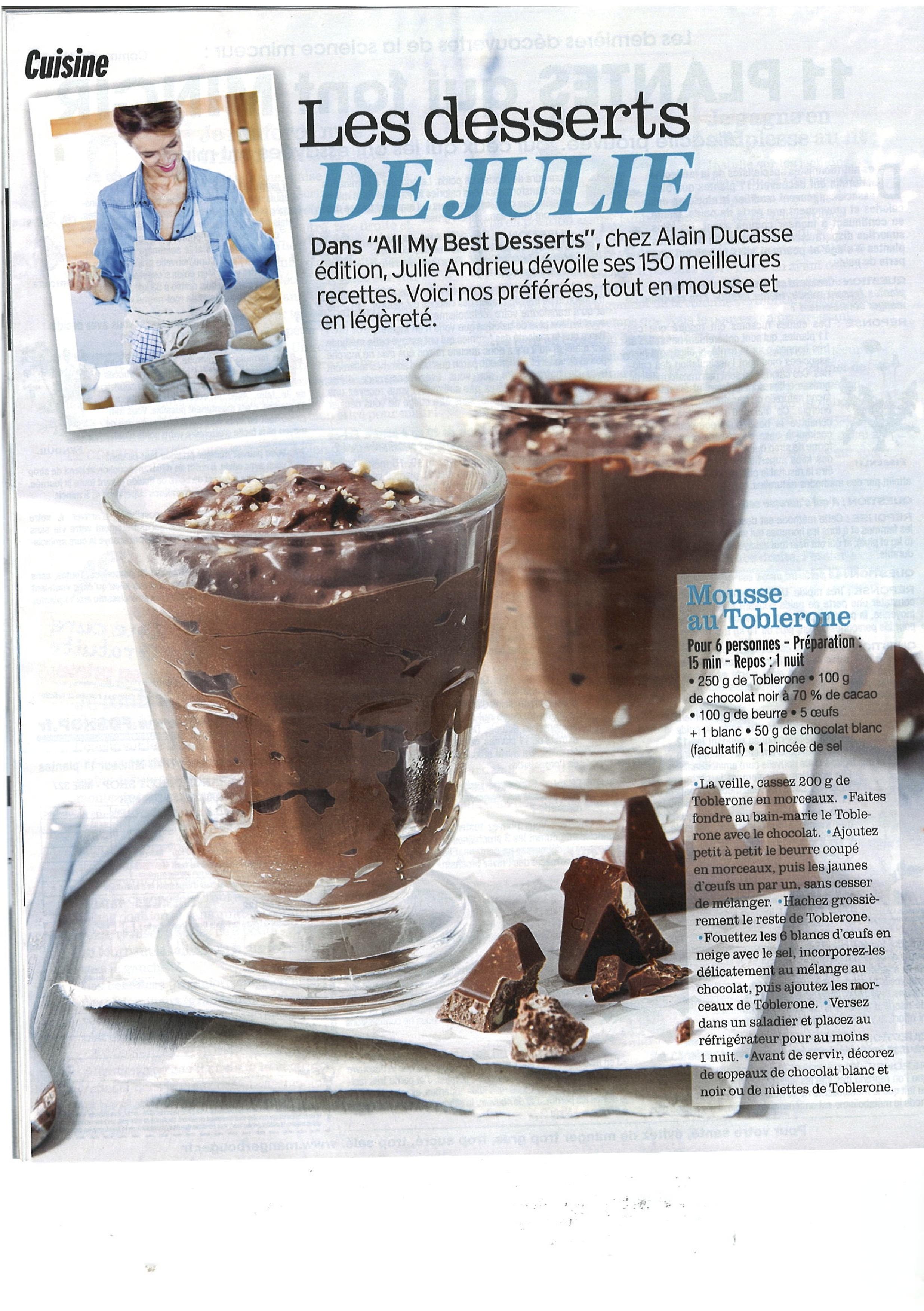 Les desserts de Julie Andrieu – Version Femina