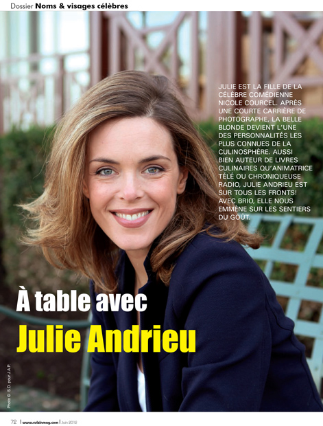 A table avec Julie Andrieu