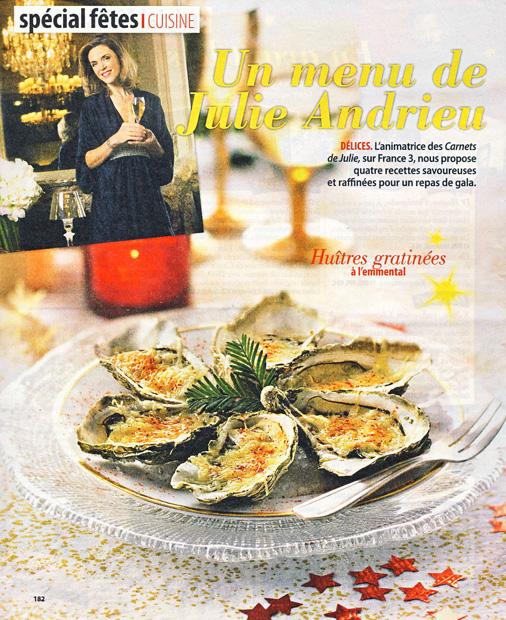 Un menu de Julie Andrieu