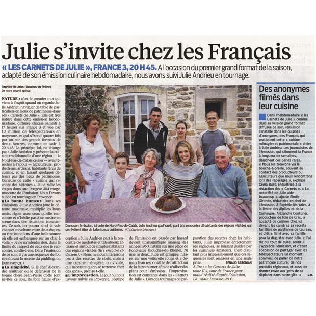 Julie s'invite chez les Français