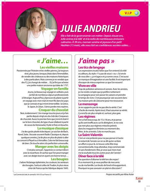 J'aime, J'aime pas de Julie Andrieu