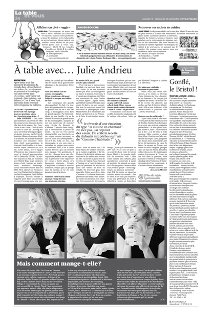 A table avec… Julie Andrieu