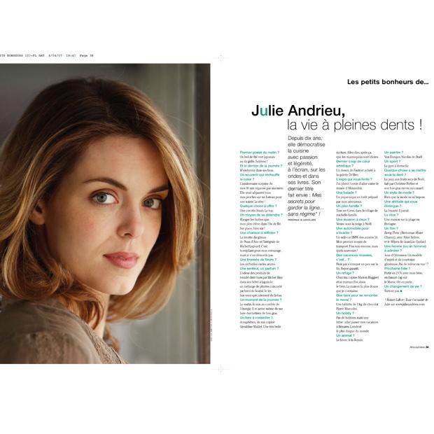 Julie Andrieu , la vie à pleine dents
