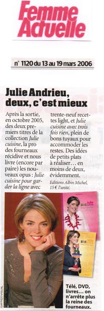 Julie Andrieu, deux c'est mieux