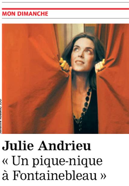 Julie Andrieu «Un pique-nique à Fontainebleau»