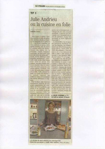 Julie Andrieu ou la cuisine en folie