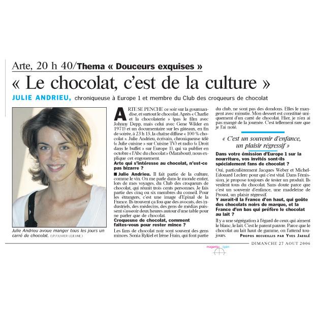 «Le chocolat, c'est de la culture»