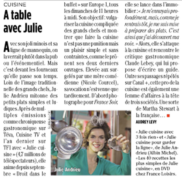 A table avec Julie