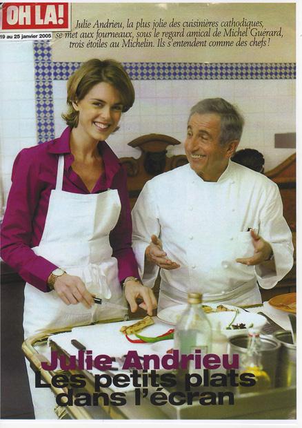 Julie Andrieu : Les petits plats dans l'écran