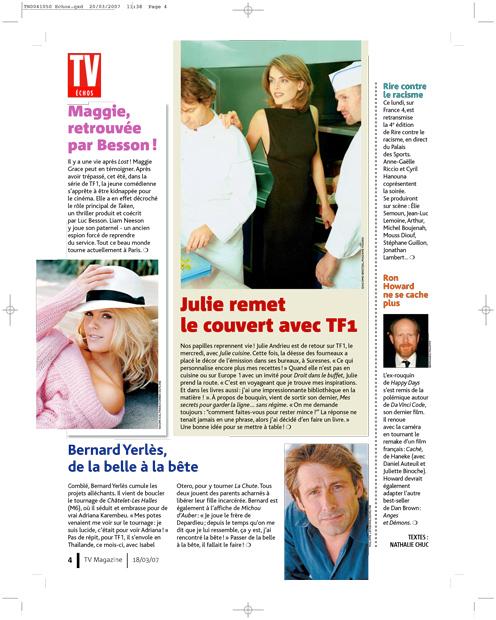 Julie remet le couvert avec TF1